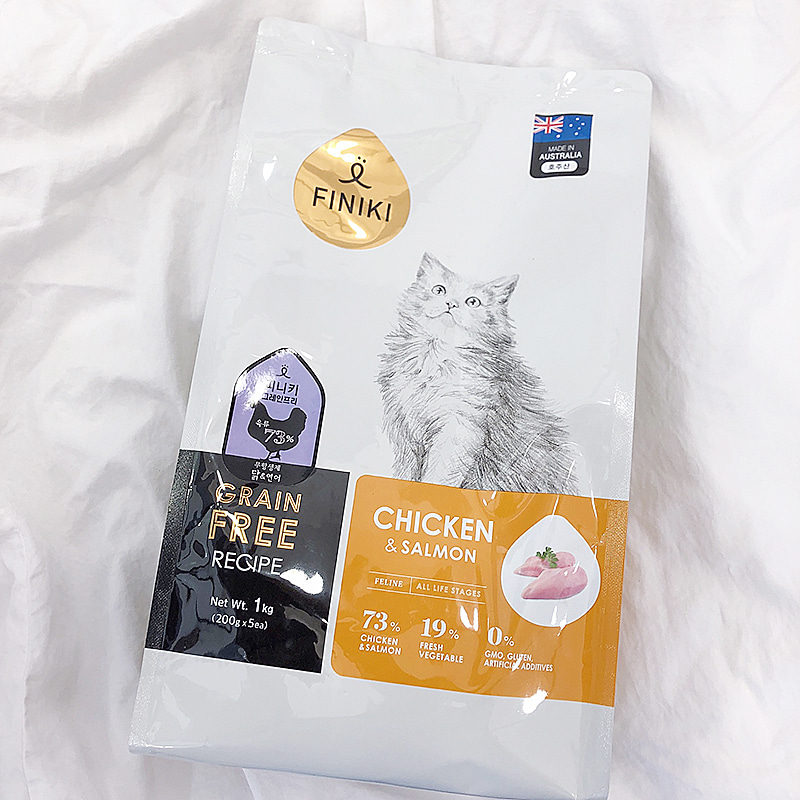 grain free chicken & salmon cat food 1kg