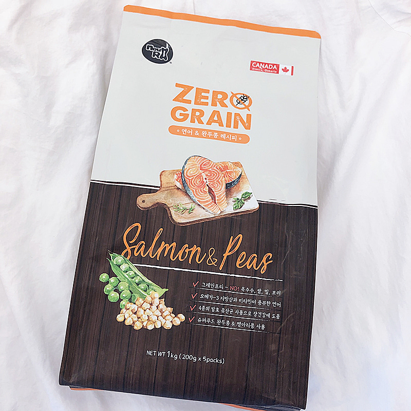 Zerograin Salmon & Pea dog food 1kg